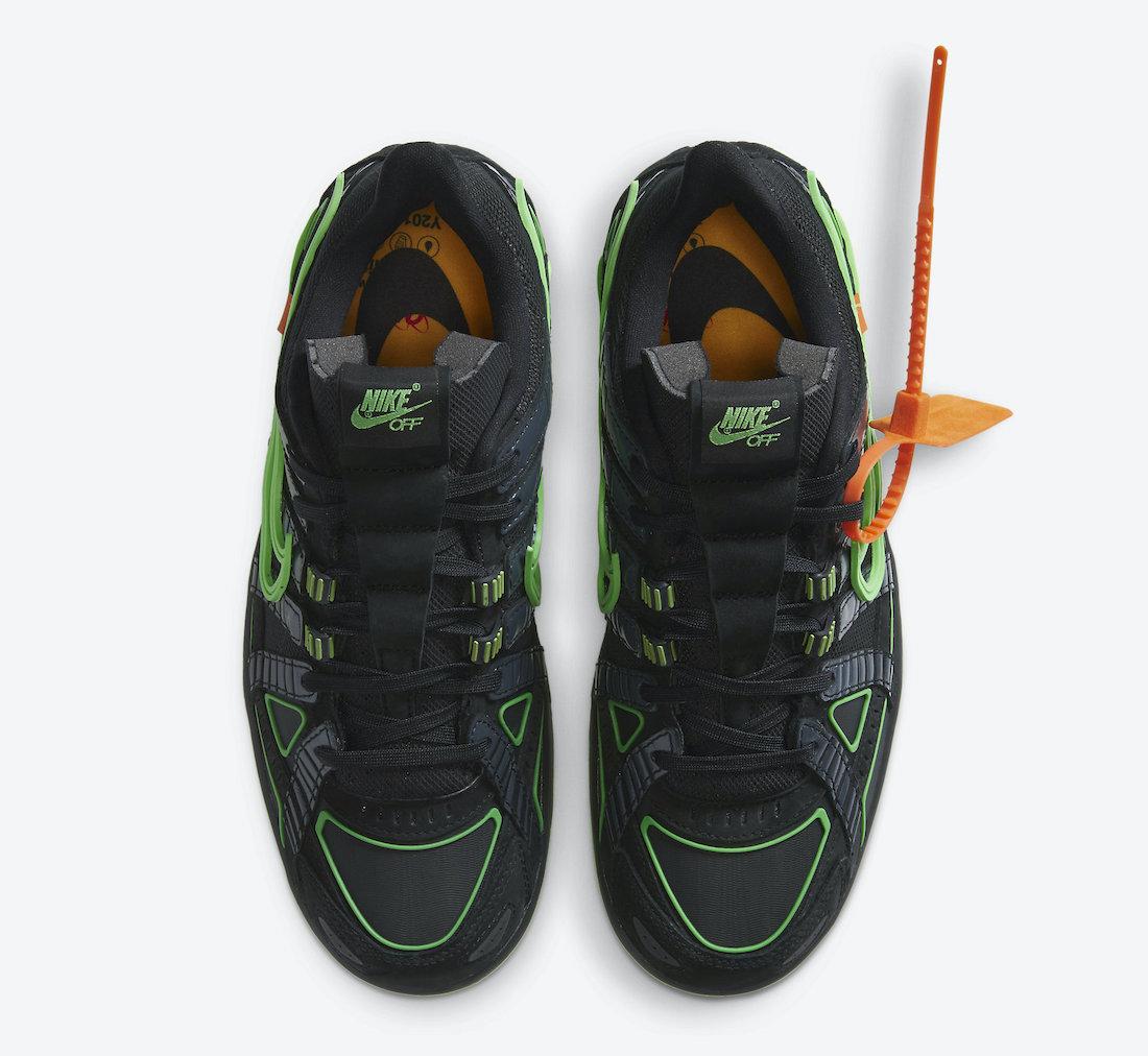 Off-White-Nike-Air-Rubber-Dunk-Green-Strike-CU6015-001-Release-Date-3